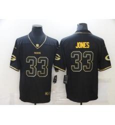 Men's Green Bay Packers #33 Aaron Jones Black Gold Nike Limited Jersey