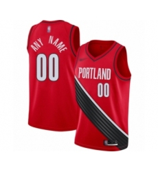 Youth Portland Trail Blazers Customized Swingman Red Finished Basketball Jersey - Statement Edition
