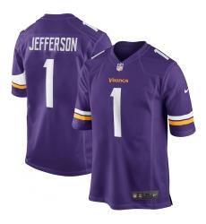 Men's Minnesota Vikings #1 Justin Jefferson Nike Purple 2020 NFL Draft First Round Pick Game Jersey.webp