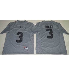 Alabama Crimson Tide #3 Calvin Ridley Gridiron Gray Limited Stitched NCAA Jersey