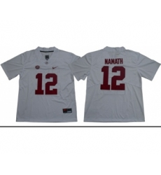 Crimson Tide #12 Joe Namath White Limited Stitched NCAA Jersey