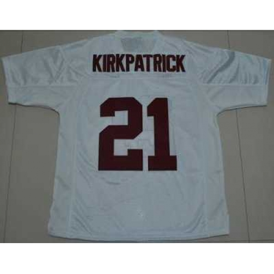 Crimson Tide  21 Dre Kirkpatrick White Embroidered NCAA Jersey ... b8a8821aa