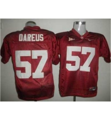 Crimson Tide #57 Marcell Dareus Red Embroidered NCAA Jersey