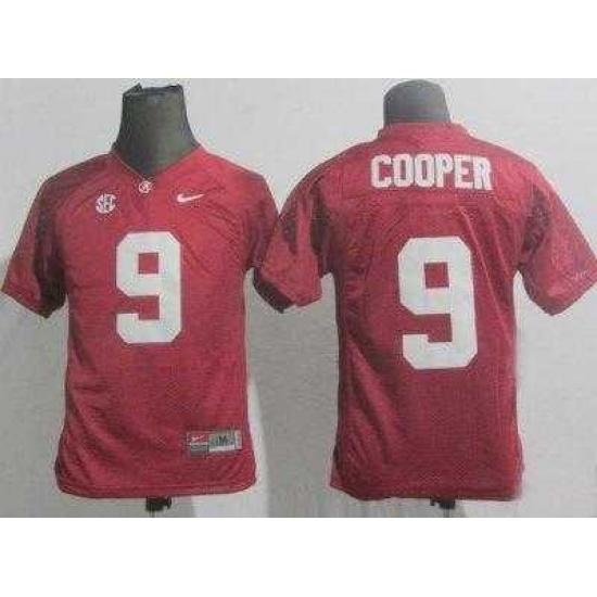 Kids Alabama Crimson Tide 9 Amari Cooper Red College Football NCAA Jerseys 01271d099