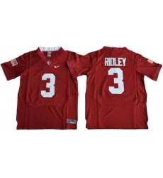 Youth Alabama Crimson Tide #3 Calvin Ridley Red Pro Combat Stitched NCAA Jersey