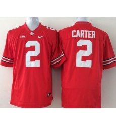 Youth Ohio State Buckeyes #2 Cris Carter Red Stitched NCAA Jersey