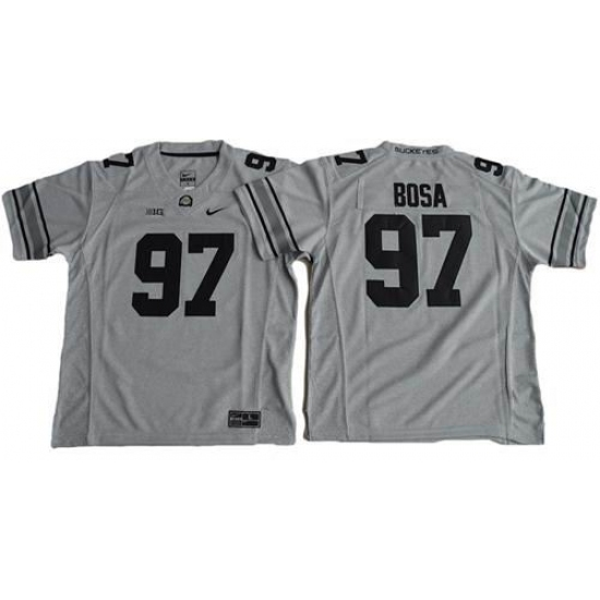 reputable site 51932 e4b7e Youth Ohio State Buckeyes #97 Joey Bosa Gridion Grey II ...