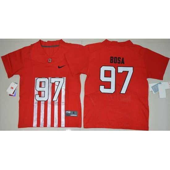 differently d392f 25ff4 Youth Ohio State Buckeyes #97 Joey Bosa Red Alternate Elite ...