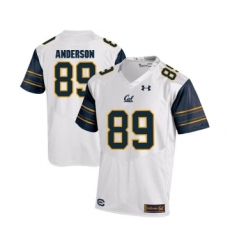 California Golden Bears 89 Stephen Anderson White College Football Jersey