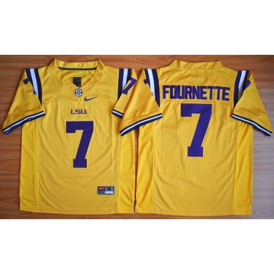 LSU Tigers  7 Leonard Fournette Gold Limited Stitched NCAA Jersey ... d9ee28329