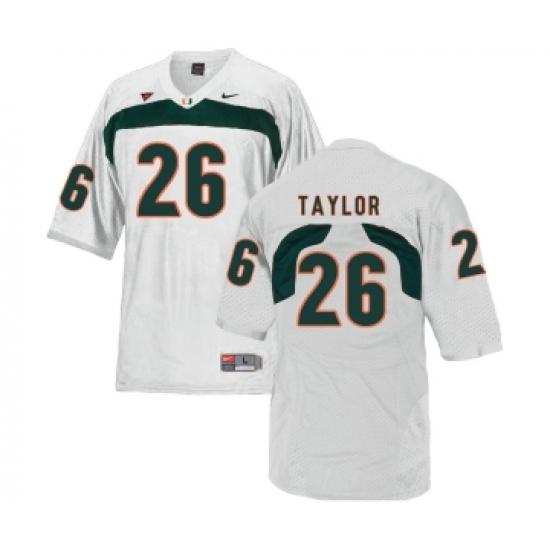 hot sale online e8d60 95776 Miami Hurricanes 26 Sean Taylor White College Football ...