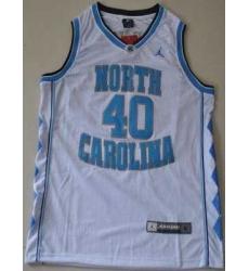 North Carolina #40 Harrison Barnes White Embroidered NCAA Jersey