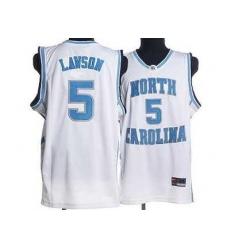 North Carolina #5 Ty Lawson White Embroidered NCAA Jersey