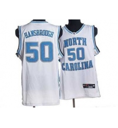 North Carolina #50 Tyler Hansbrough White Embroidered NCAA Jersey