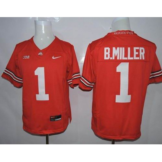 wholesale dealer 12477 ad3b4 Ohio State Buckeyes #1 Braxton Miller Red Limited Stitched ...