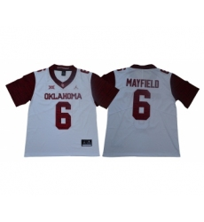 Oklahoma Sooners 6 Baker Mayfield White 47 Game Winning Streak College Football Jersey