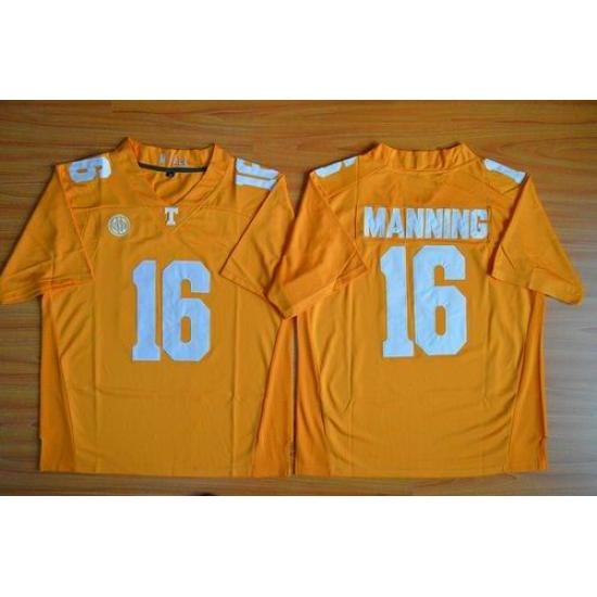 new product 4b911 78198 Tennessee Vols #16 Peyton Manning Orange Stitched NCAA ...