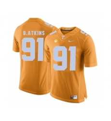 Tennessee Volunteers 91 Doug Atkins Orange College Football Jersey