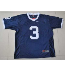 Nittany Lions #3 Navy Blue Embroidered NCAA Jersey