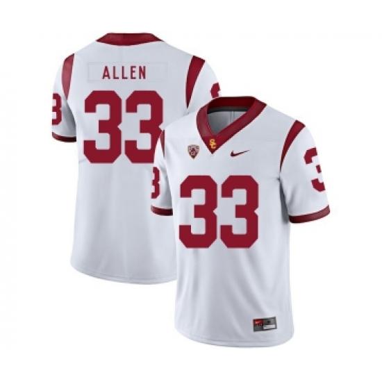 8f77394c7bb USC Trojans 33 Marcus Allen White College Football Jersey ...