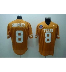 Longhorns #8 Jordan Shipley Orange Embroidered NCAA Jersey