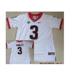 Georgia Bulldogs 3 Todd Gurley White 2012 SEC Patch College NCAA Jerseys