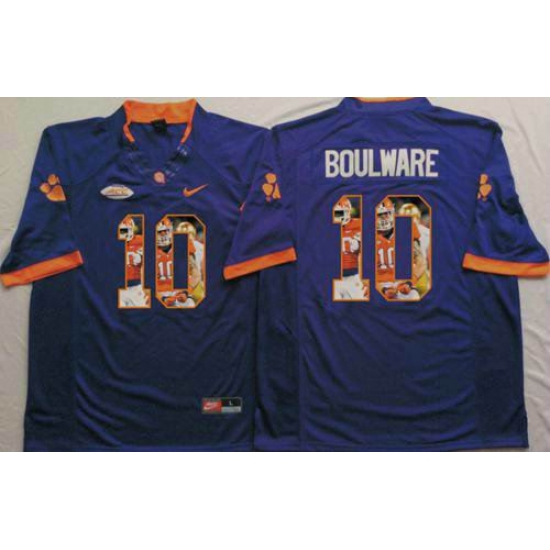 best sneakers 0bf6d 26830 Clemson Tigers #10 Ben Boulware Purple Player Fashion ...