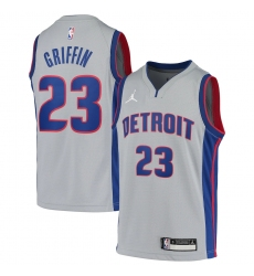 Youth Detroit Pistons #23 Blake Griffin Jordan Brand Gray 2020-21 Swingman Jersey