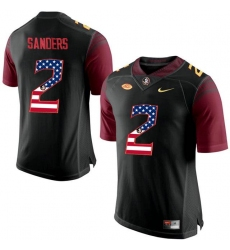 Florida State Seminoles #2 Deion Sanders Black USA Flag College Football Limited Jersey