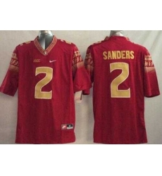 Florida State Seminoles #2 Deion Sanders Red Limited Stitched NCAA Limited Jersey
