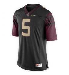 Florida State Seminoles #5 Jameis Winston Black Stitched NCAA Limited Jersey