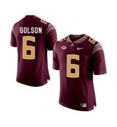 Florida State Seminoles 6 Everett Golson Marroon College Football Jersey