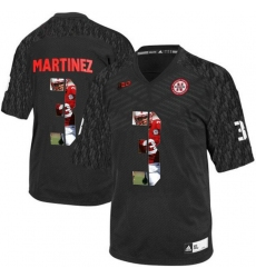 Nebraska Cornhuskers #3 Taylor Martinez Black With Portrait Print College Football Jersey