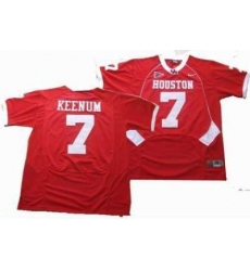 NCAA Houston Cougars #7 KEENUM red jerseys
