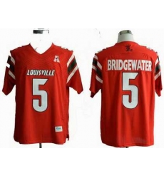 NCAA Louisville Cardinals 5# Teddy Bridgewater  red NCAA Jerseys