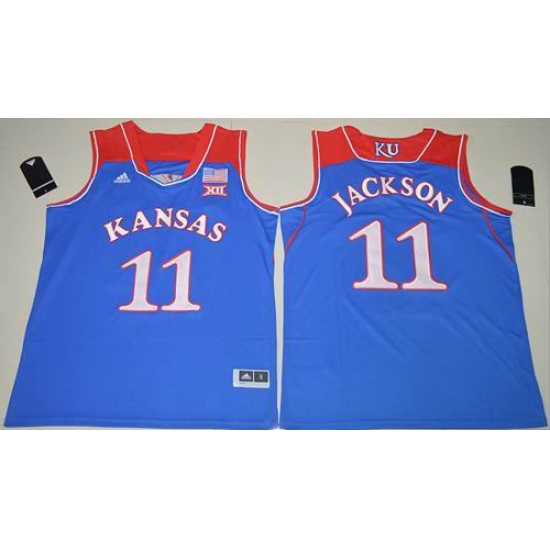 wholesale dealer 8a4b6 2622a Kansas Jayhawks #11 Josh Jackson Royal Blue Basketball ...