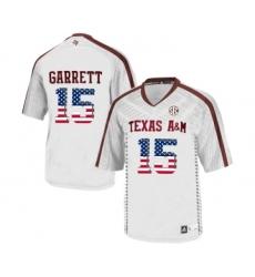 Texas A&M Aggies 15 Myles Garrett White College Football Jersey