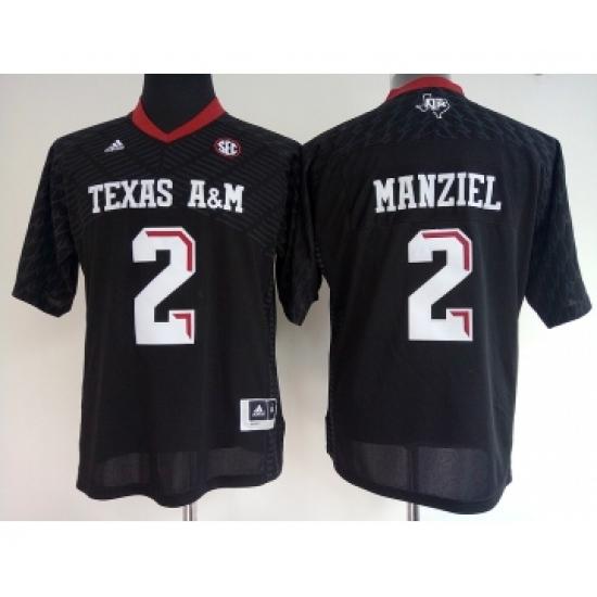 sports shoes db282 936eb Texas A&M Aggies 2 Johnny Manziel Black College Football ...