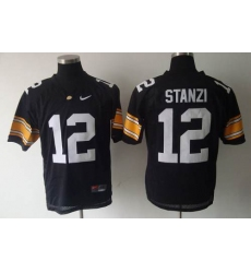 Iowa Hawkeyes #12 Stanzi Black Stitched NCAA Jersey