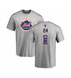 Baseball New York Mets #24 Robinson Cano Black Name & Number T-Shirt