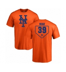 Baseball New York Mets #39 Edwin Diaz Orange RBI T-Shirt