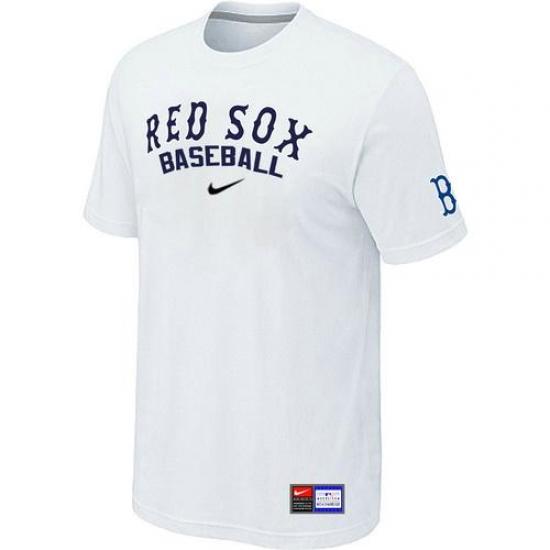 innovative design d62a5 5df4b MLB Men's Boston Red Sox Nike Practice T-Shirt - White ...