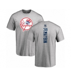 Baseball New York Yankees #38 Cameron Maybin Ash Backer T-Shirt