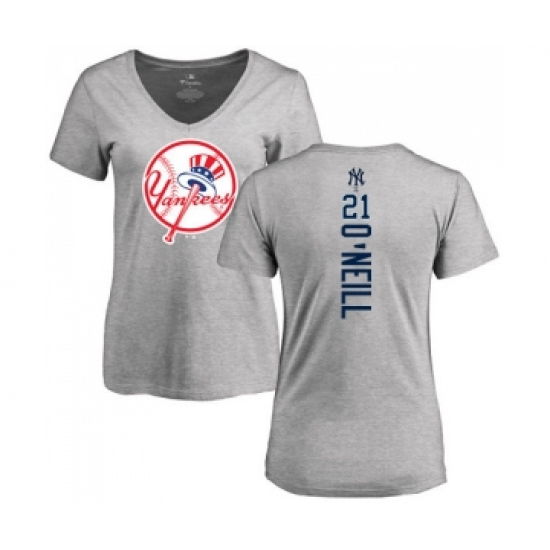 new arrival e3c8c 4f207 MLB Women's Nike New York Yankees #21 Paul O'Neill Ash ...