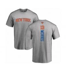 Basketball New York Knicks #13 Marcus Morris Ash Backer T-Shirt