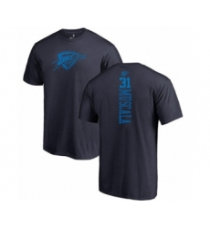 Basketball Oklahoma City Thunder #31 Mike Muscala Navy Blue One Color Backer T-Shirt