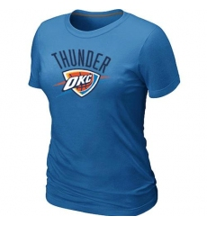 NBA Women s Oklahoma City Thunder Big   Tall Primary Logo T-Shirt - Light  Blue 4c26c9837
