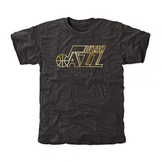 NBA Men s Utah Jazz Gold Collection Tri-Blend T-Shirt - Black ... b3de8bfd0