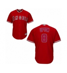 Men's Los Angeles Angels of Anaheim #8 Justin Upton Replica Red Alternate Cool Base Baseball Jersey