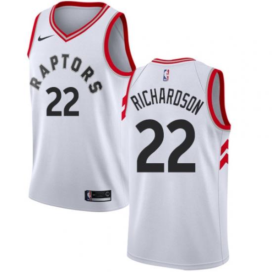 Women s Nike Toronto Raptors  22 Malachi Richardson Authentic White NBA  Jersey - Association Edition 9e143a0ea6